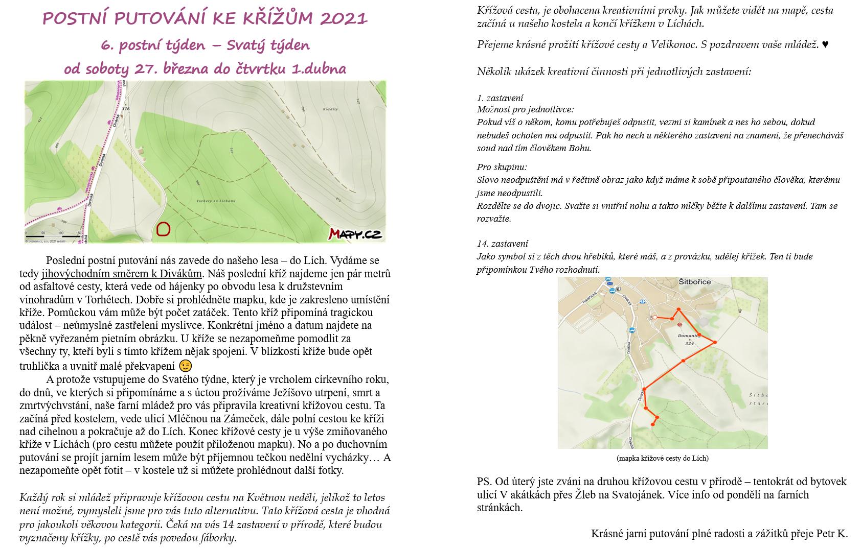 Postní putování ke křížům 2021- čtvrtý kříž